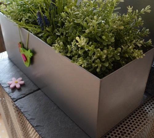 edelstahl blumenkasten f r fensterbank balkon. Black Bedroom Furniture Sets. Home Design Ideas
