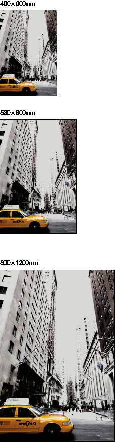 Taxi-Bild auf Edelstahl